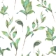 Watercolor Seamless Pattern With Leaves And Twigs - GraphicRiver Item for Sale