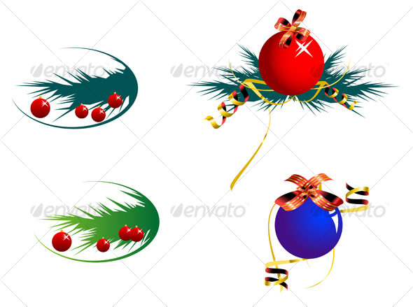 Set of color decoration balls - Seasons/Holidays Conceptual
