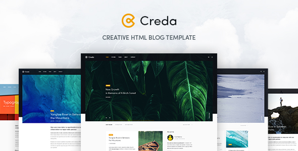 Creda – Creative HTML Blog Template