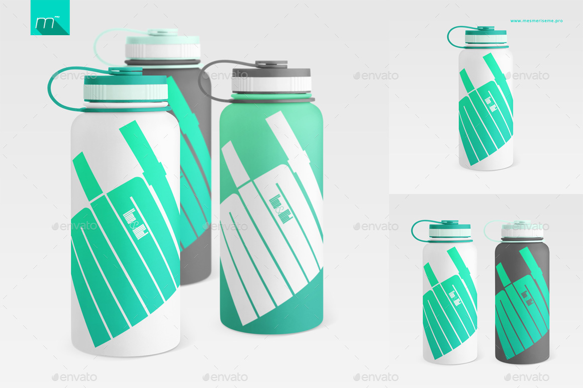 Hydro Flask Water Bottle Mock-up by mesmeriseme_pro | GraphicRiver