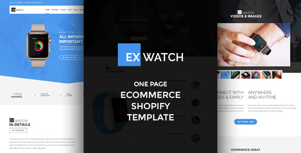Ex Watch – Single Product eCommerce Shopify Theme