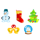 Five christmas icons and symbols - GraphicRiver Item for Sale