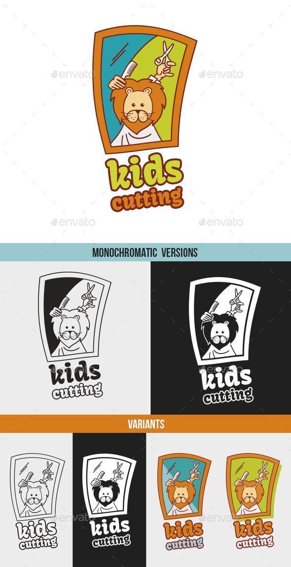 Kids Cutting / Hairdressing - Logo Templates