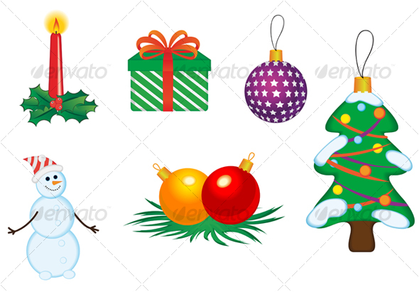 Christmas icons and symbols - Decorative Vectors