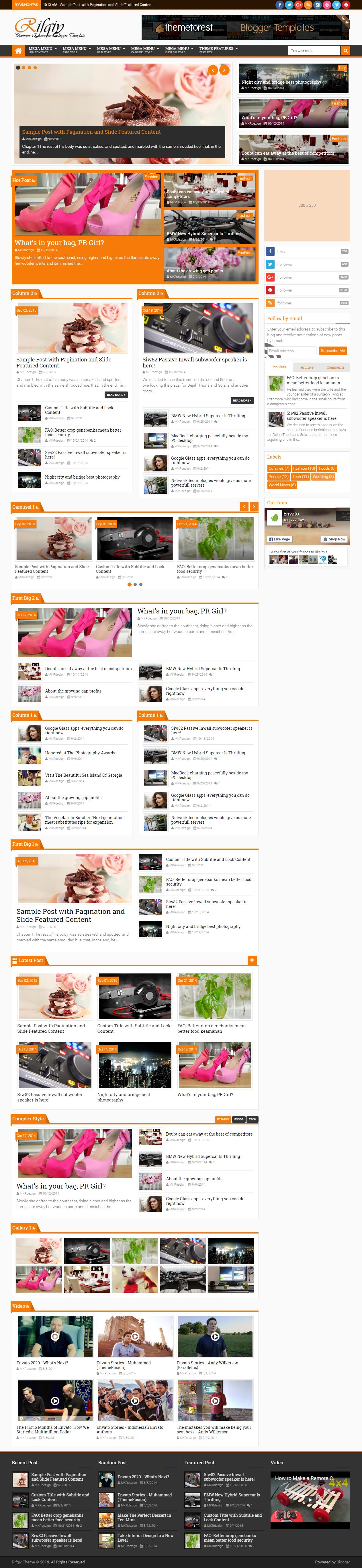Rifqiy Responsive Magazine News Blogger Template By Mkrdezign