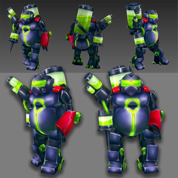 Robots Piston - 3DOcean Item for Sale