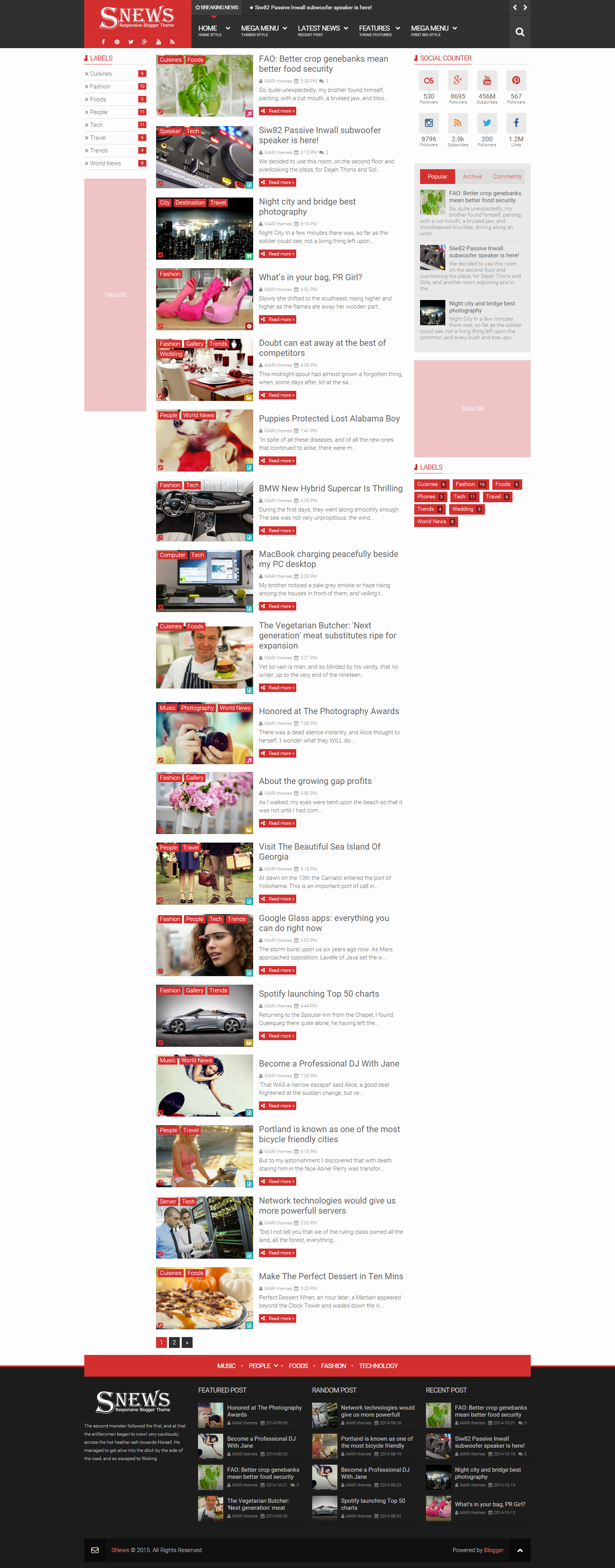 Snews News Magazine Responsive Blogger Theme By Marithemes
