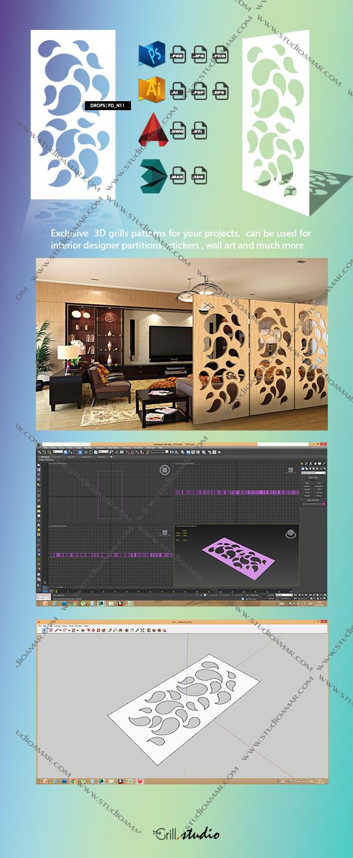 Drops (3d screens) PD_N11 - 3DOcean Item for Sale
