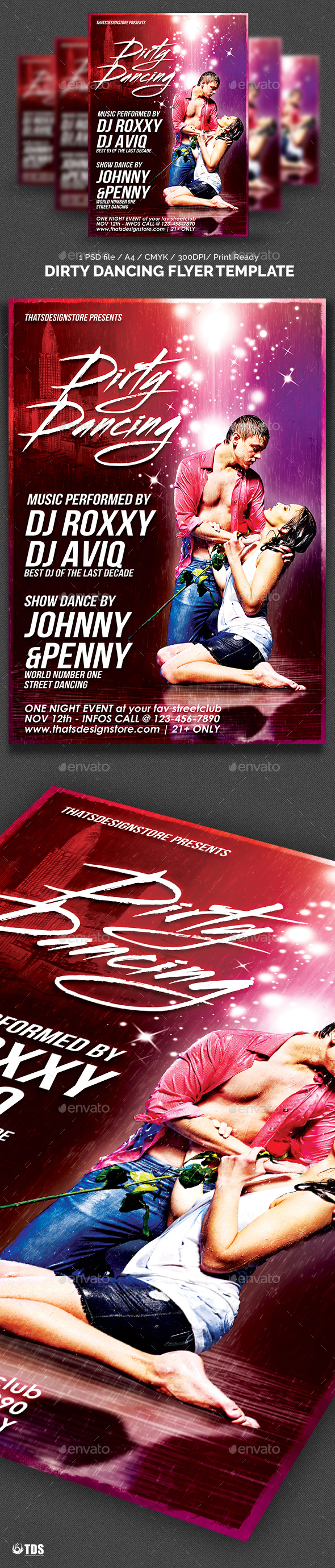 Dirty Dancing Flyer Template - Clubs & Parties Events