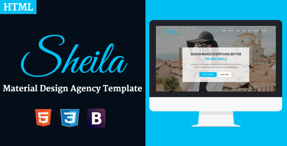Sheila – Material Design Agency Template