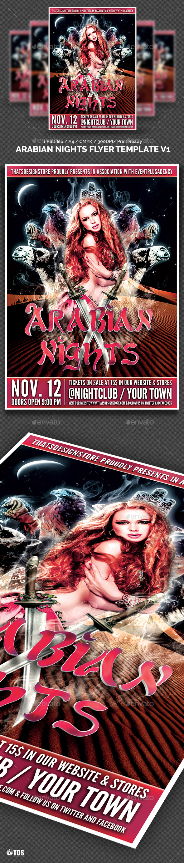 Arabian Nights Flyer Template V1 - Clubs & Parties Events