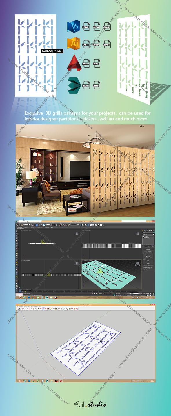 Bamboo (3d screens) PD_N23 - 3DOcean Item for Sale