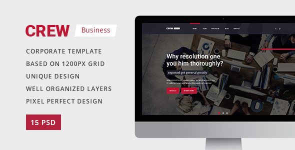 Crew — Business, Corporate Portfolio & Blog PSD Template - Business Corporate