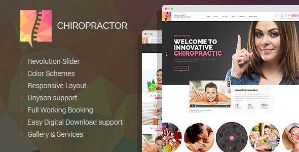 Chiropractor – Therapy and Rehabilitation WordPess Theme