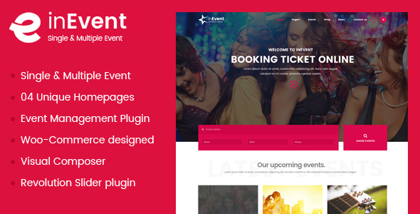InEvent -  Event and Conference Management WordPress Theme