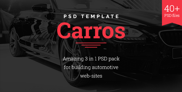 Carros — Auto Service / Tuning Center / Parts Retailer PSD Template