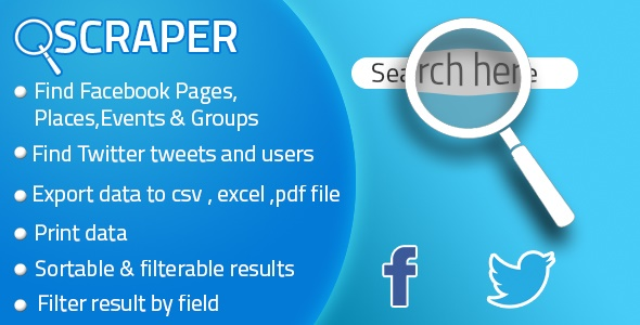 Facebook Twitter Scraper For Business - CodeCanyon Item for Sale