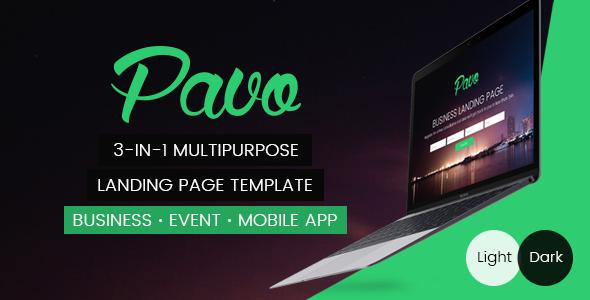 Pavo – Multipurpose Landing Page Template