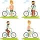Bike People Set - GraphicRiver Item for Sale