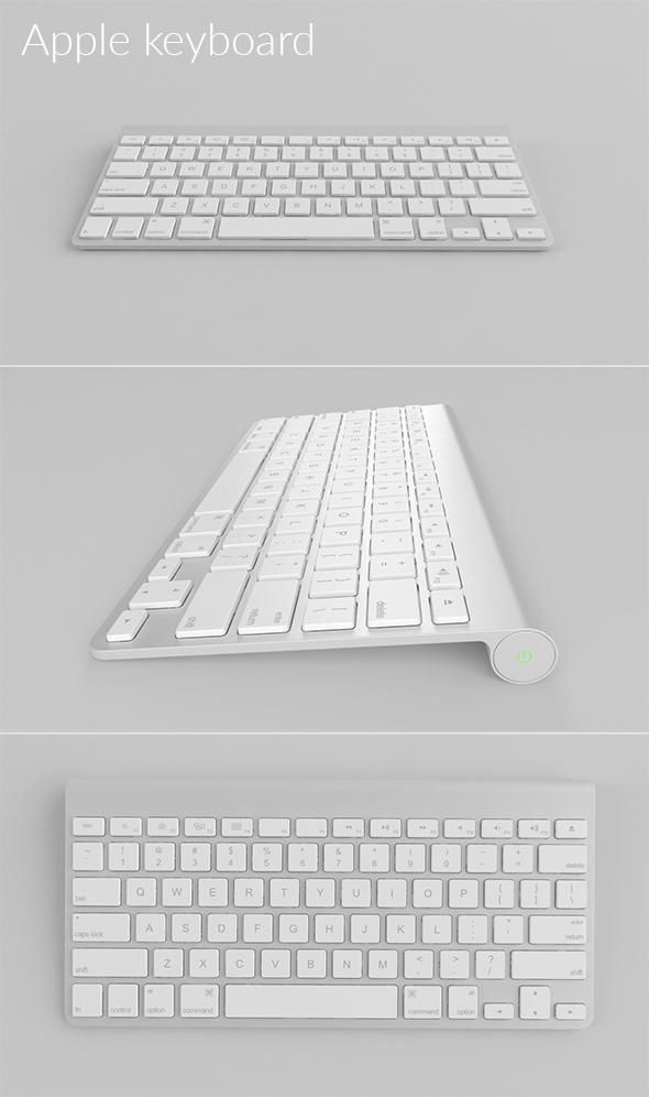 Apple Keyboard - 3DOcean Item for Sale