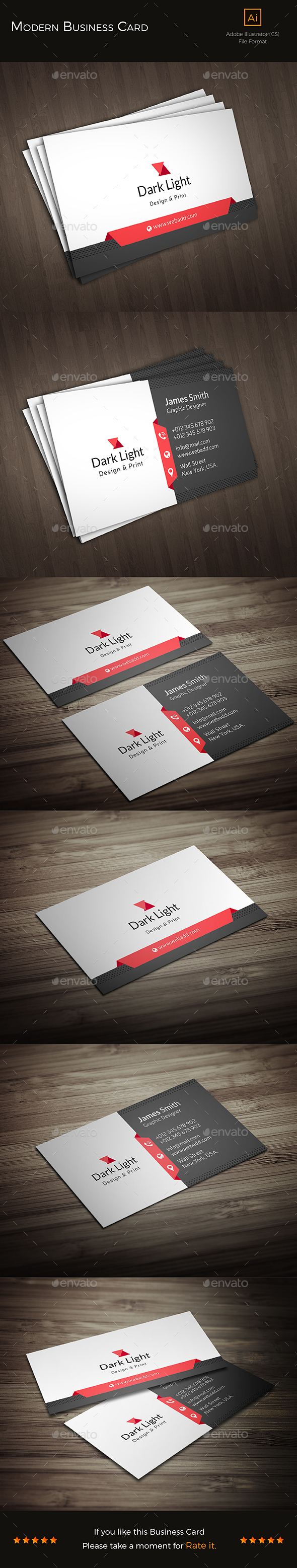 Modern Business Card ii - Business Cards Print Templates