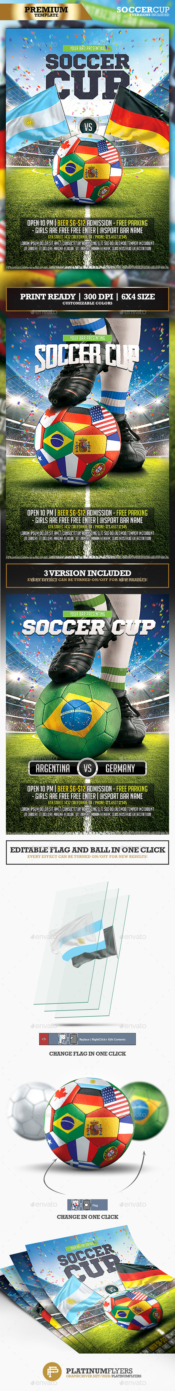 Soccer Cup Flyer - Print Templates