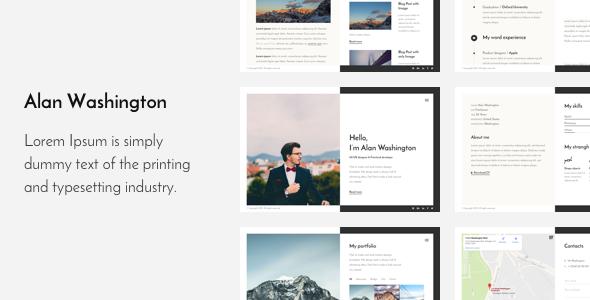 Alan — Responsive Personal HTML5 portfolio