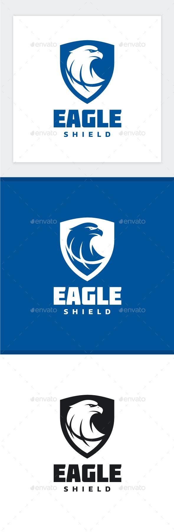 eagle shield logo by yopie graphicriver rh graphicriver net Eagle Shield Badge blue eagle shield logo name