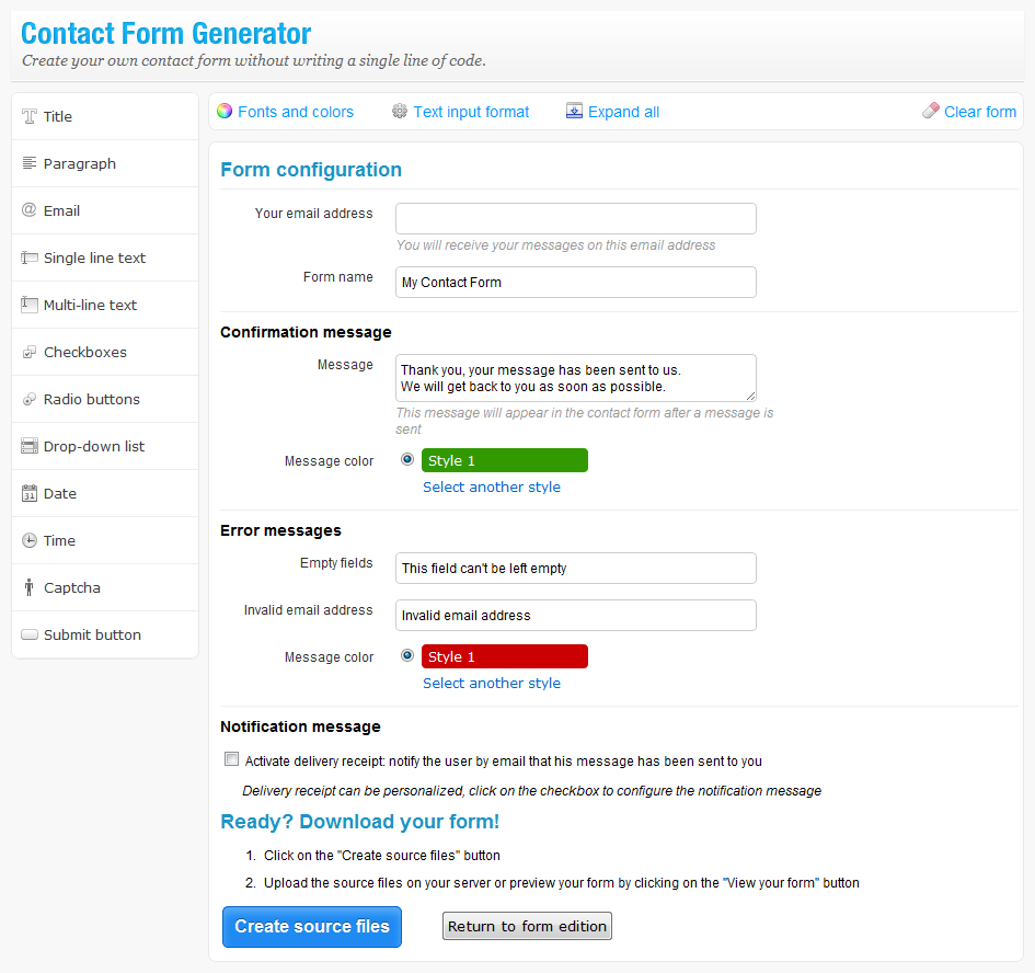 Contact Form Generator - Easy & Powerful Form Builder by TopStudio