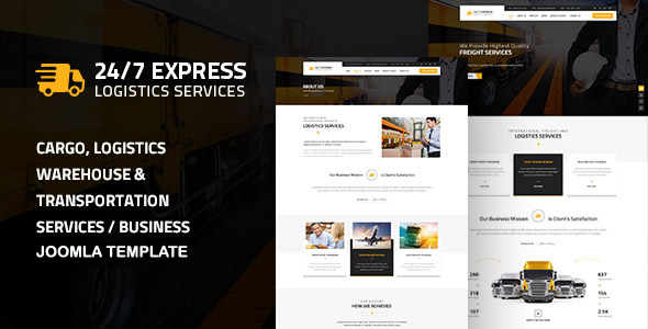 24/7 Express Logistics Services Joomla - Business Corporate