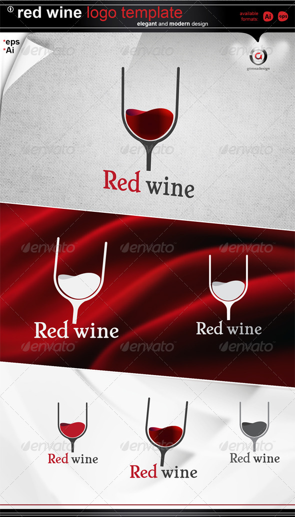 Red wine logo - Letters Logo Templates
