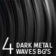4 Dark Metal Waves Loopable Backgrounds - VideoHive Item for Sale