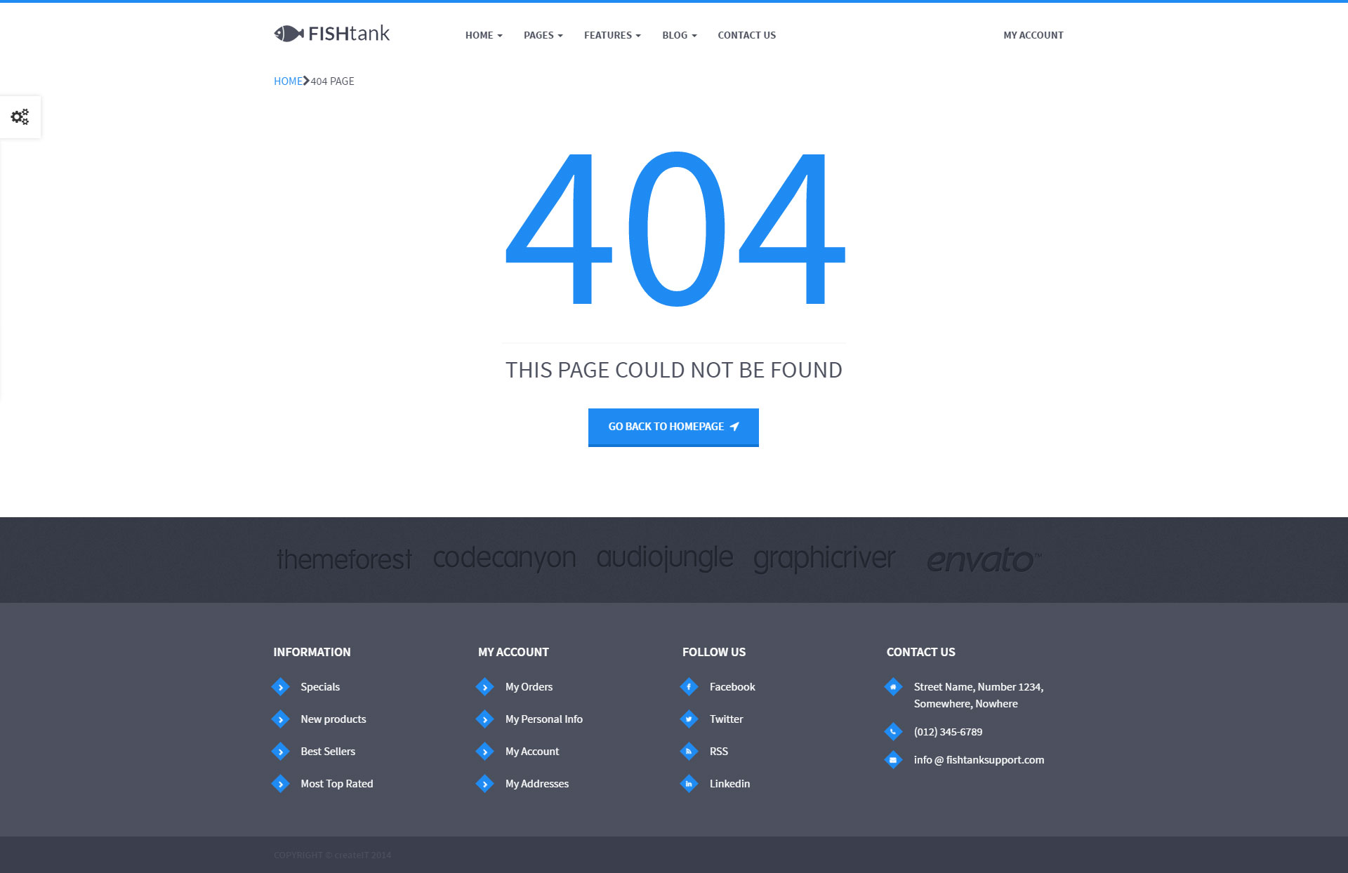404 not found html template - fishtank creative shop html template by themeplayers