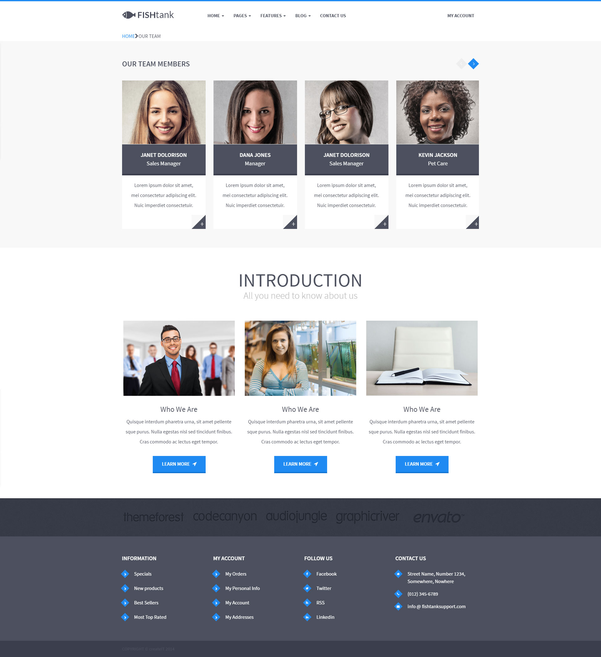 FishTank Creative Shop HTML Template by ThemePlayers