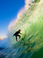Surfer On Blue Ocean Wave - PhotoDune Item for Sale