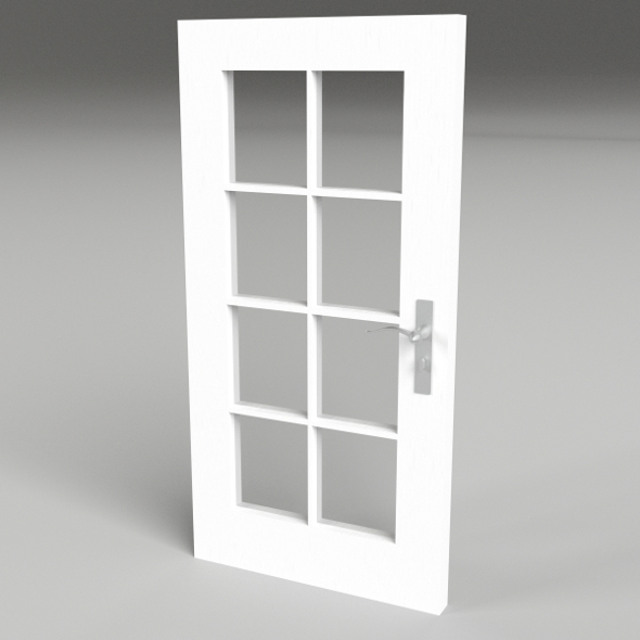 8 panel glass door - 3DOcean Item for Sale