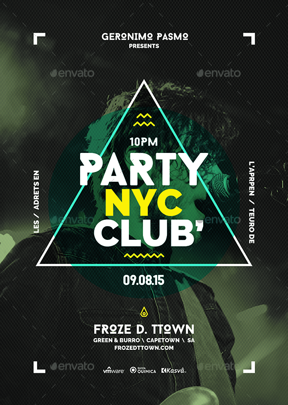 party nyc club poster by flyerfactory graphicriver. Black Bedroom Furniture Sets. Home Design Ideas