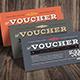 Vintage Hipster Voucher/Card - GraphicRiver Item for Sale