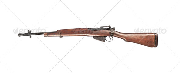 British Enfield Rifle - Stock Photo - Images