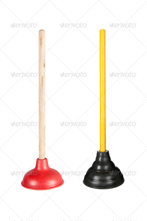 Toilet plungers - Stock Photo - Images