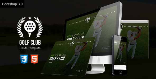 Golf Course Responsive Website Template - Miscellaneous Site Templates