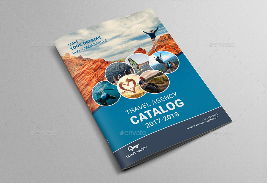 Travel Agency Brochure Catalog Template By Al Mamun Graphicriver