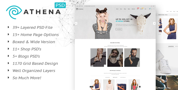 Athena – Fashion eCommerce PSD Template
