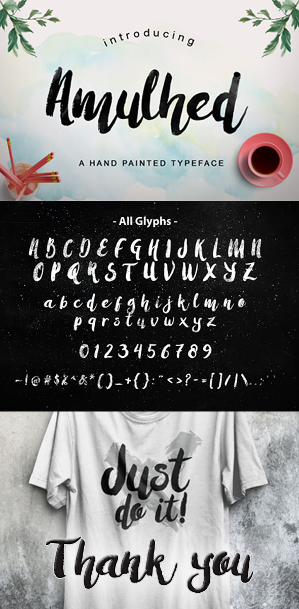 Amulhed Brush Update - Script Fonts