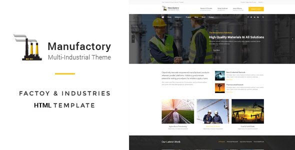 Manufactory: Multi-Industrial HTML Template - Business Corporate
