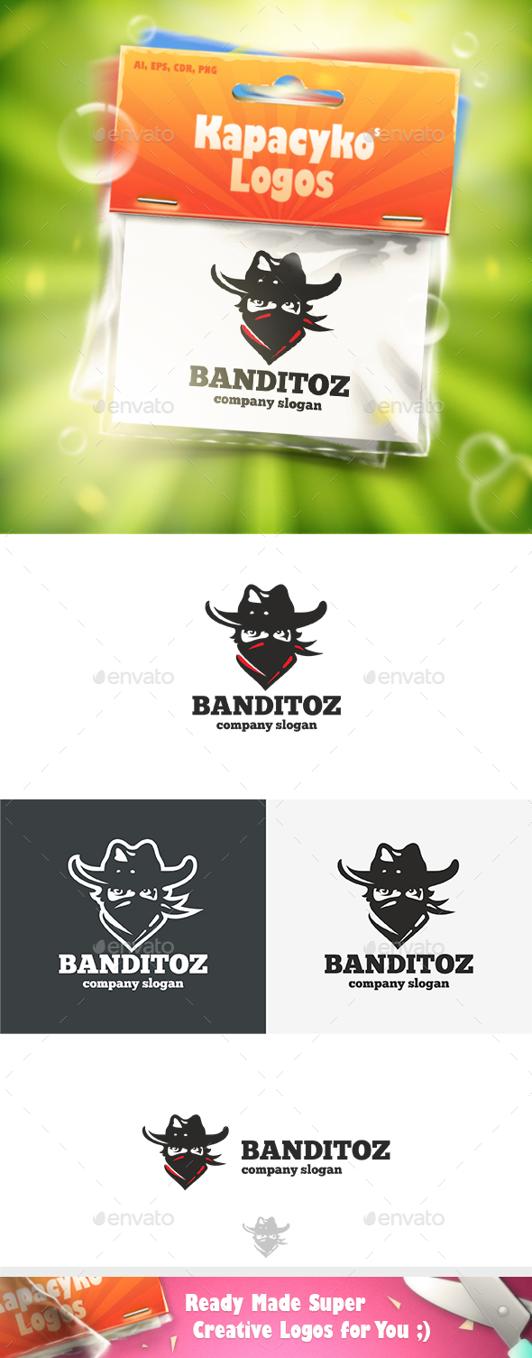 Banditoz Logo - Humans Logo Templates