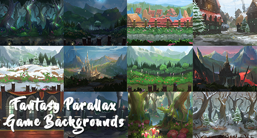 Fantasy Parallax Game Background Medieval Pack