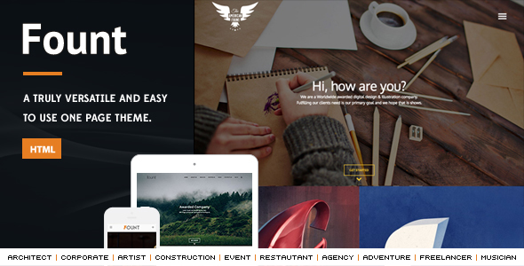 Fount - One & Multipage Hybrid HTML Template - Miscellaneous Site Templates