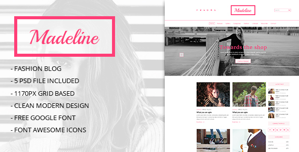 Medeline Multipurpose Blog PSD