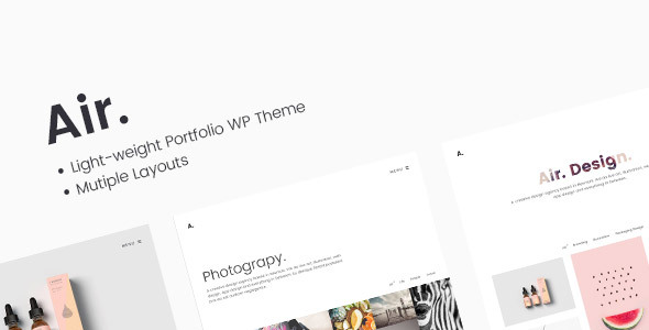 Air. Lightweight Portfolio & Photography WP Theme